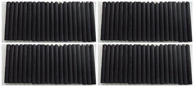 """SET OF 80 BLACK SPELL / CHIME CANDLES, MINI 4"""" X 1/2"""" (Altar, Ritual)"""
