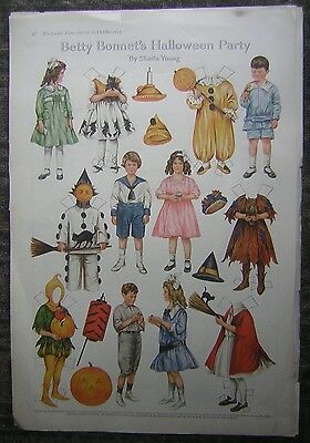 "(10) Pages of 1917 & 1918 The Ladies Home Journal ""Betty Bonnet's"" Paper Dolls"