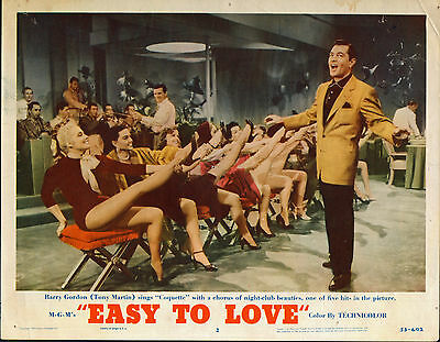 EASY TO LOVE orig 1953 lobby card TONY MARTIN/CARROLL BAKER 11x14 movie poster
