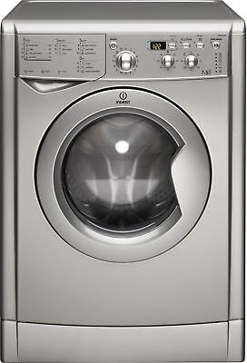 Indesit Eco-Time IWDD7143S Free Standing 7/5KG 1400 Spin Washer Dryer - Silver.