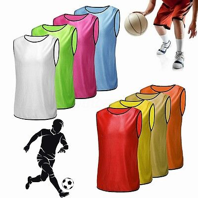 Football Training Rugby Hockey Soccer  Basketball Sports Bibs Youth Adult Jersey