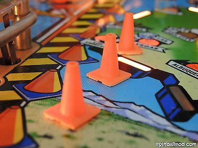 Red & Ted's Road Show Pinball   6 x traffic cones  pinball flipper mod