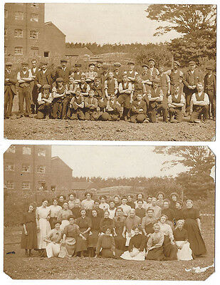 SOCIAL HISTORY 2x RP Postcards Group of Male and Female Factory Workers
