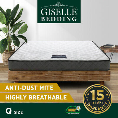 Luxury QUEEN Mattress Bed Size Bonnell Spring Density Foam Medium Firm 16cm