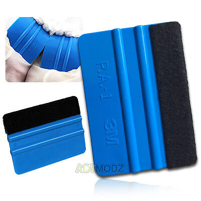 Car Vinyl Film Wrapping Tools Blue Color 3M Scraper Squeegee with Felt Edge 10*7