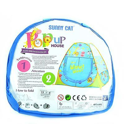Shatchi House TRIANGLE Blue Pop Up Play Tent For Indoor-Outdoor Play