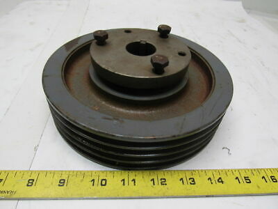 "Browning 4Q3V80 Cast Iron Pulley Sheave 4 Groove Split Taper 1-1/4"" Bore"