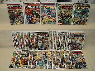 Invaders 1-41 + Annual + Giant-Size COMPLETE SET Nice! Marvel Comics (s 7762)
