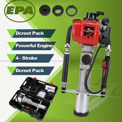 1.3HP 40CC 4-Stroke Gasoline Gas Powered T-Post Driver One Man Push Pile Driver