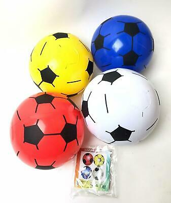 10 Inflatable Football Outdoo Indoor Beach Ball Summer Toy 22cm Party Bag Filler