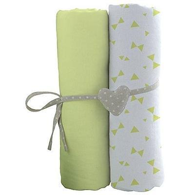 Babycalin Set De 2 Draps Housse 60 X 120 Cm