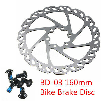 Disc Brake Rotor MTB Bike Bicycle Cycle Rotors 6 Bolt 160mm For Avid Elixir BB7