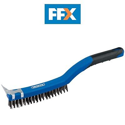 Draper 17179 Wire Scratch Brush with Scraper (3 Row)