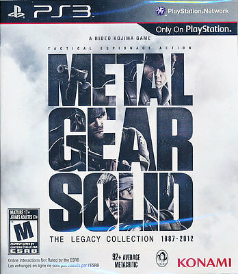Metal Gear Solid The Legacy Collection PS3 Game Brand New & Sealed