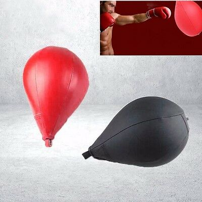 Leather Speed Ball Boxing Punch Bag Punching Training MMA Swivel Speedball