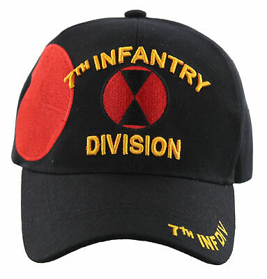 """#1599 7th Infantry Division /""""Hourglass/"""" Ballcap Cap Hat"""