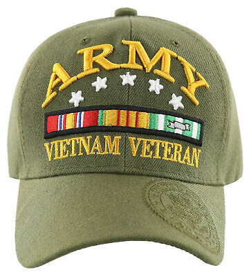 New! Us Army Strong Shadow Vietnam Veteran Cap Hat Olive