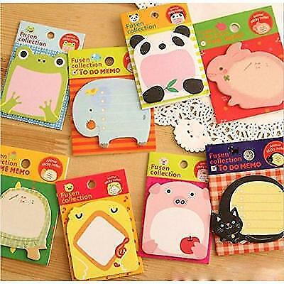 Witkey 8 paquetes Zoon Animal Notas Adhesivas Notes Memo Pads New