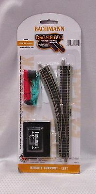 New Bachmann Remote Switch Left-Hand Nickel Silver E-Z N Scale 44861 Free Ship