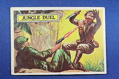 1965 Topps Battle Cards - #18 Jungle Duel - Very Good Condition