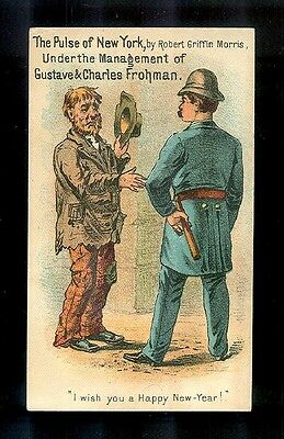 """""""The Pulse of New York"""" A Drama by Robt. Griffin Morris-Victorian Trade Card"""