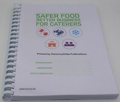 2019 Safer Food Better Business For Caterers Restaurants Pack & Separate Diary