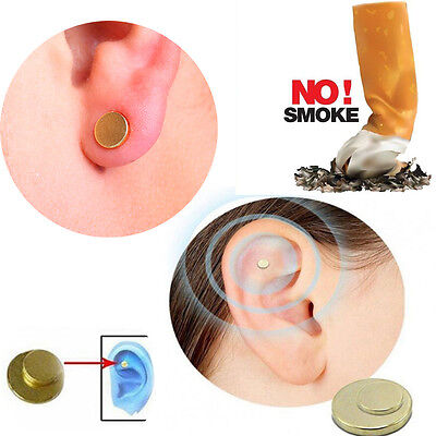 Easy Quit Stop Smoking Magnet Cigarettes Magnetic Ear Acupressure Stud No Smoke