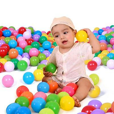 25/50/100pcs colorful ball Soft Plastic ocean ball funny baby kid Swim Pit Toy