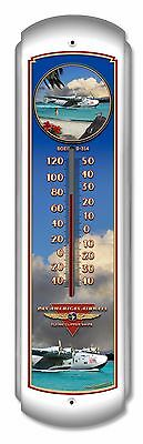 Boeing PAN AM Clipper Large Thermometer - Hand Made in USA with American Steel