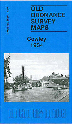 Old Ordnance Survey Map Cowley 1934