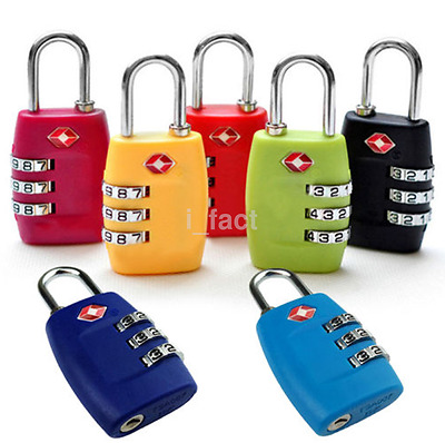 1pc 3-Dial TSA Combination Padlock Luggage Suitcase Travel Security Code Lock US