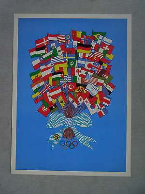 poster plakat olympiade 1972 m nchen olympische spiele olympic games munich eur 48 00. Black Bedroom Furniture Sets. Home Design Ideas