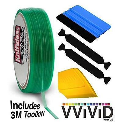 Knifeless Vinyl Wrap Cutting Tape Finishing Line 10M Plus 3M Toolkit (Blue
