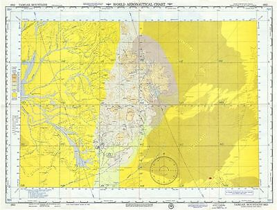 1953 U.S. Air Force Aeronautical Chart or Map of Tamgak Mountains, Agadez, Niger