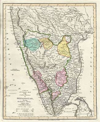 1792 Wilkinson Map of Southern India