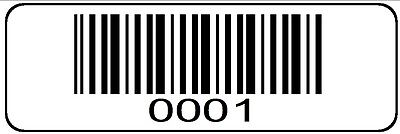0001 > 1000 Serial Bar-code Sequential Sticker Consecutive Number Label Roll #1