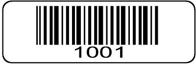 1001 > 2000 Serial Barcode Sequential Sticker Consecutive Number Label Roll # 2