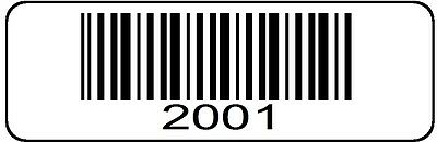 2001 > 3000 Serial Barcode Sequential Sticker Consecutive Number Label SET # 3