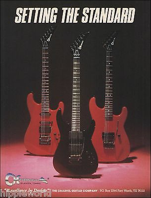 The 1987 Jackson Charvel Model Guitar Company ad 8 x 11 advertisement print