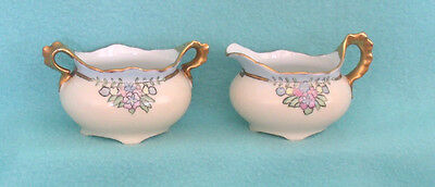 Vintage Austrian Imperial China Sugar and Creamer