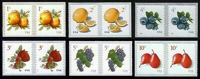 #5037-5039, 5201, & 5256-Fruit, Coil Pairs, Mint **ANY 4=FREE SHIPPING**