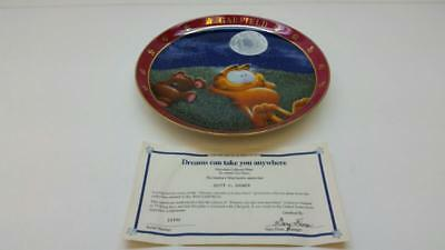 "Danbury Mint ""dreams Can Take You Anywhere"" Garfield Collector Plate (St5014964)"