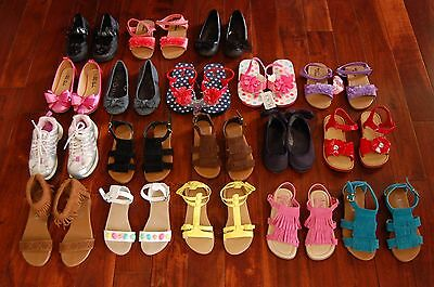 Girls Sz 10 11 Mixed Lot of New & Preowned Shoes Sandals *BACK TO SCHOOL*