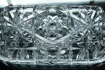 VINTAGE Star of David Press Glass Butter Dish with Lid