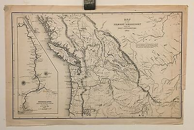 Map of the Oregon Territory From the Best Authorities 1849 Charles Wilkes