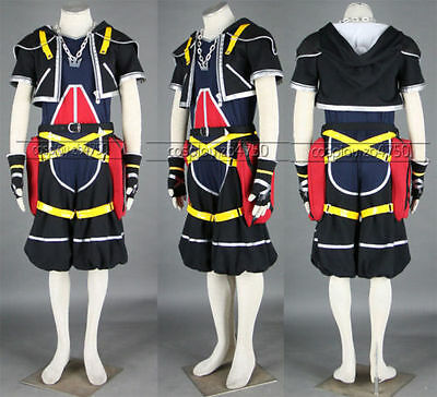 Kingdom Hearts II 2 Sora Cosplay Costume Tailored the Original Color Hallowmas