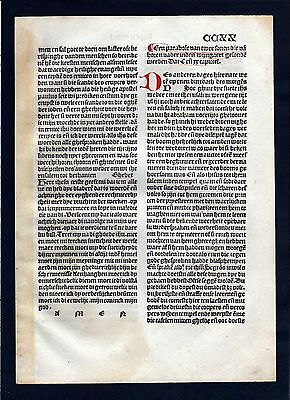 1499 Blatt CCXX Inkunabel Vita Christi Zwolle incunable Dutch Holland