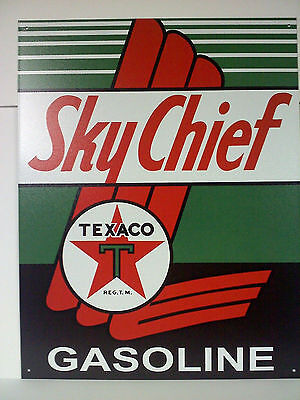 "TEXACO- SKY CHIEF GAS  METAL SIGN 12.5""Wx16""H  Brand New !"