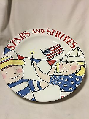Stars and Stripes- Patriotic Themed  Lot of 3 Salad Plates