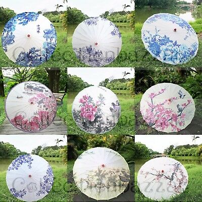 Handmade Chinese Paper Umbrella Parasol for Wedding Decor/Show display You Pick